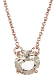 Marchesa Solitaire Crystal Pendant Necklace