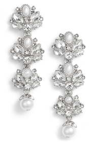 Marchesa Linear Cluster Earrings