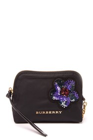 Burberry Baby Bucket Leather Trimmed Pouch