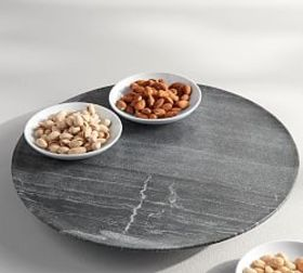 Pottery Barn Black Marble Lazy Susan