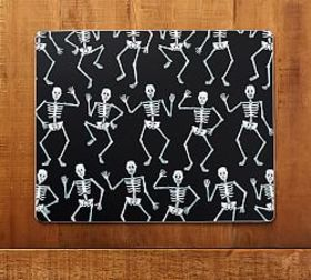 Pottery Barn Dancing Skeletons Cork Placemat