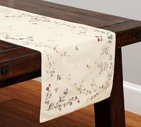Pottery Barn Autumn Botanical Table Runner