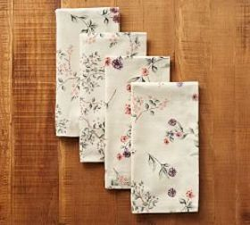 Pottery Barn Autumn Botanical Napkin, Set of 4