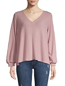 Jessica Simpson Brit Boxy Knit Top WOODROSE