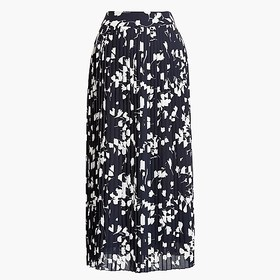 J. Crew Factory Pleated midi skirt in print