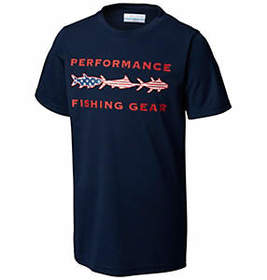 Columbia Boys' PFG Freedom Fish™ Short Sleeve Shir