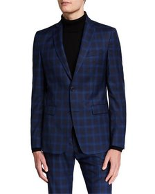 Versace Collection Men's Checkered Wool Two-Piece