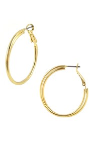 Savvy Cie Classic Double Overlapped Hoop Earrings