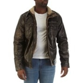 LEVI'S Mens Sherpa-Lined Faux Leather Jacket