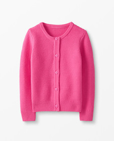 Hanna Andersson Classic Cardigan in Power Pink - m