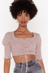 Nasty Gal Womens Dusky pink I Frill Don't Know Squ