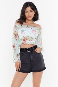 Nasty Gal Womens Mint Go With the Flow-er Off-the-