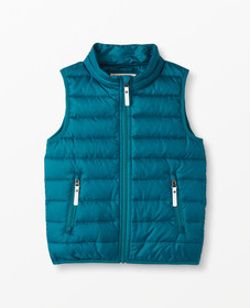 Hanna Andersson Superlight Down Vest in Trek Teal