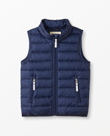 Hanna Andersson Superlight Down Vest in Navy - mai