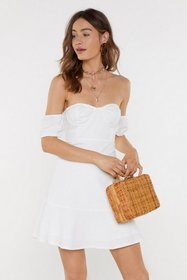 Nasty Gal Womens White A Place in the Sun Off-the-