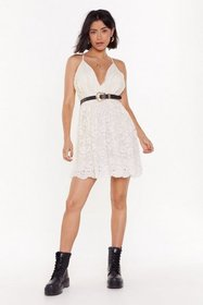 Nasty Gal Womens Cream Heaven is a Lace on Earth M
