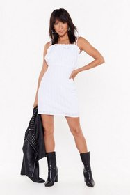 Nasty Gal Womens White Can't Tie My Trust Ruffle M