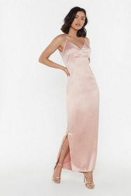 Nasty Gal Womens Soft pink Top Table Material Sati