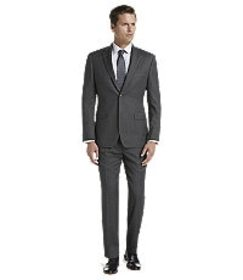 Jos Bank Traveler Collection Tailored Fit Herringb