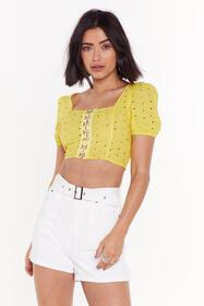 Nasty Gal Womens Yellow Hook After Yourself Broder