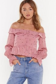 Nasty Gal Womens Pink Don't Spot Believin' Off-the