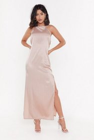 Nasty Gal Womens Rose Always Be My Baby Satin Maxi
