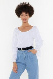 Nasty Gal Womens White Hole in My Heart Broderie A
