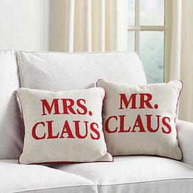 Mr. & Mrs. Claus Holiday Needlepoint Pillow