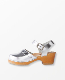 Hanna Andersson Mary Jane Clogs By Hanna in Silver