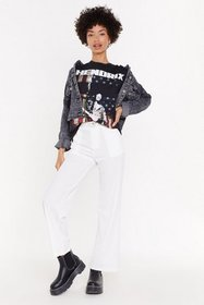 Nasty Gal Womens White Suit Yourself High-Waisted