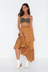 Nasty Gal Womens Toffee Gather Your Thoughts Maxi