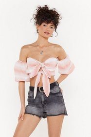 Nasty Gal Womens Coral Tied Up in Promises Crop To