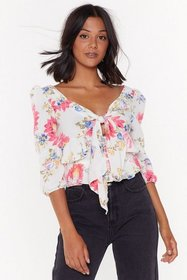 Nasty Gal Womens White Into the Field of Love Flor