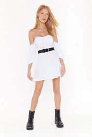 Nasty Gal Womens White Sunset Flip Off-the-Shoulde