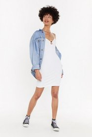 Nasty Gal Womens White O-Ring It Loud Ribbed Mini