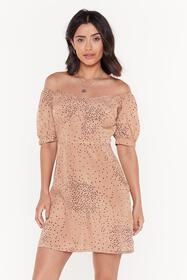 Nasty Gal Womens Natural Spot Polka Dot Off Should