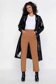 Nasty Gal Womens Camel Got It All on Tapered High-