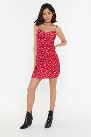 Nasty Gal Womens Red Grow About Your Business Flor