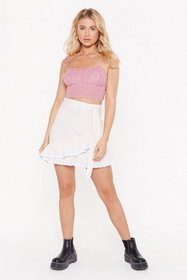Nasty Gal Womens White Broderie Your Horizons Wrap