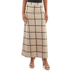 OLIVIA BLU Plaid Maxi Skirt