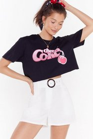 Nasty Gal Womens White O Really Belted Linen Short