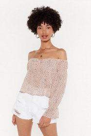 Nasty Gal Womens Nude Spot At Nothing Spotty Off-t