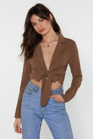 Nasty Gal Womens Khaki Linen Your Pockets Cropped