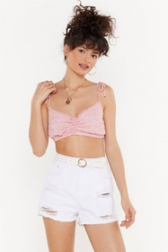 Nasty Gal Womens Pink Remember Your Roots Knot Flo