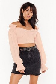 Nasty Gal Womens Peach Not Your Sweetheart Necklin