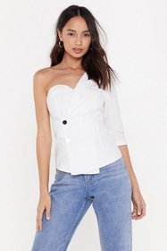 Nasty Gal Womens White Solo Career One Shoulder Bu
