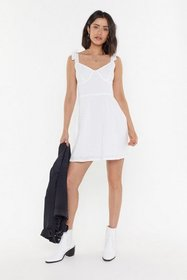 Nasty Gal Womens White Say It Ain't Sew Brodierie