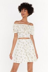 Nasty Gal Womens Lemon Go with the Flo-ral Off-the