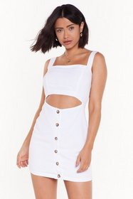 Nasty Gal Womens White Something in the Square Cut