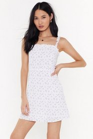 Nasty Gal Womens White Time To Grow Floral Mini Dr
